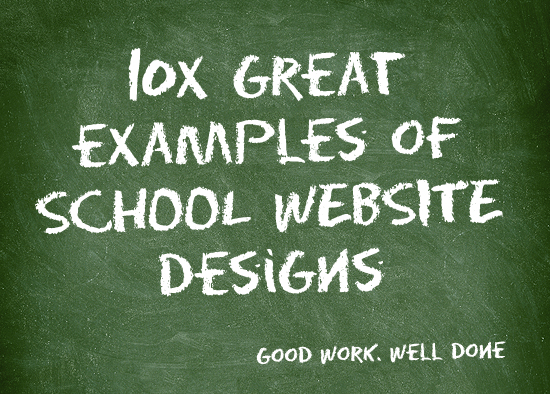 10x great examples of school website designs stripey