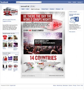 Facebook Smirnoff Page