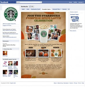 Facebook Starbucks Page