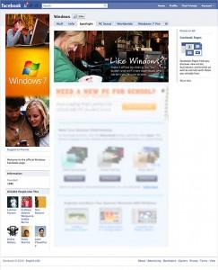 Facebook Windows 7 Page